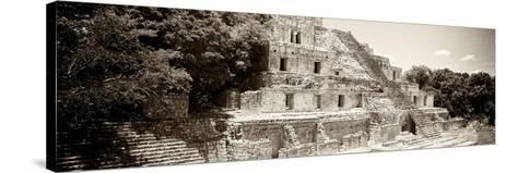 ¡Viva Mexico! Panoramic Collection - Maya Archaeological Site - Campeche VII-Philippe Hugonnard-Stretched Canvas Print