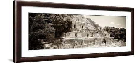 ¡Viva Mexico! Panoramic Collection - Maya Archaeological Site - Campeche VII-Philippe Hugonnard-Framed Art Print