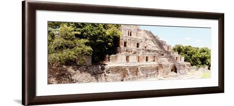¡Viva Mexico! Panoramic Collection - Maya Archaeological Site - Campeche VIII-Philippe Hugonnard-Framed Art Print