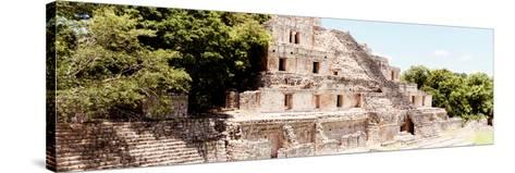 ¡Viva Mexico! Panoramic Collection - Maya Archaeological Site - Campeche VIII-Philippe Hugonnard-Stretched Canvas Print
