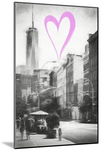 Luv Collection - New York City - Urban Street-Philippe Hugonnard-Mounted Giclee Print