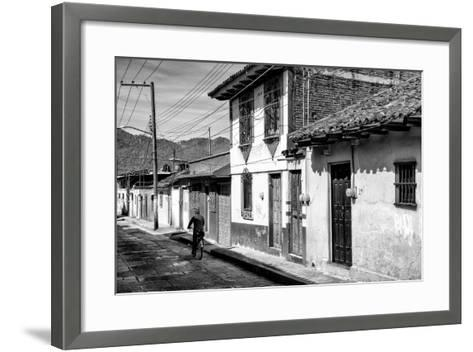 ?Viva Mexico! B&W Collection - Street Scene San Cristobal de Las Casas II-Philippe Hugonnard-Framed Art Print
