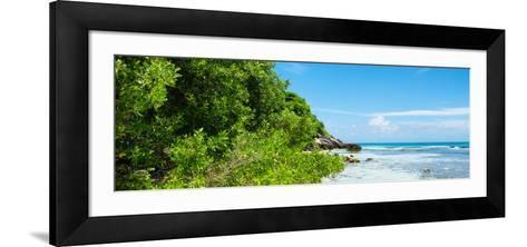 ¡Viva Mexico! Panoramic Collection - Isla Mujeres Coastline-Philippe Hugonnard-Framed Art Print