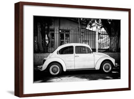 "?Viva Mexico! B&W Collection - ""Summer"" VW Beetle Car-Philippe Hugonnard-Framed Art Print"