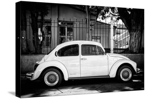 "?Viva Mexico! B&W Collection - ""Summer"" VW Beetle Car-Philippe Hugonnard-Stretched Canvas Print"
