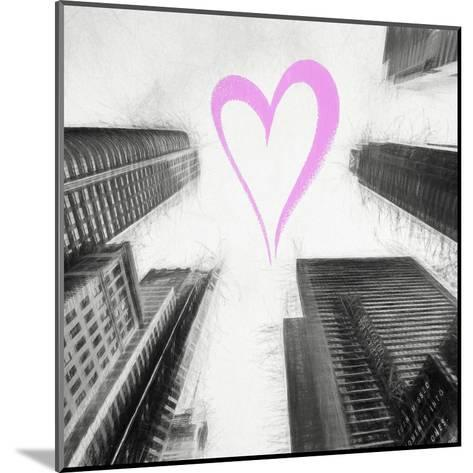 Luv Collection - New York City - Times Square Skyscrapers II-Philippe Hugonnard-Mounted Giclee Print