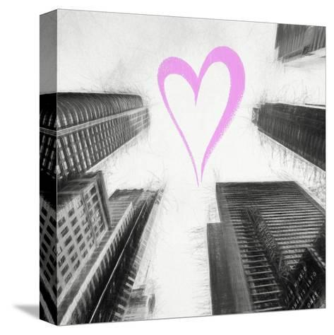 Luv Collection - New York City - Times Square Skyscrapers II-Philippe Hugonnard-Stretched Canvas Print