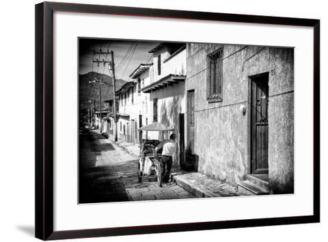 ¡Viva Mexico! B&W Collection - Street Scene San Cristobal de Las Casas-Philippe Hugonnard-Framed Art Print