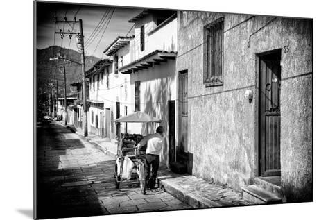 ¡Viva Mexico! B&W Collection - Street Scene San Cristobal de Las Casas-Philippe Hugonnard-Mounted Photographic Print