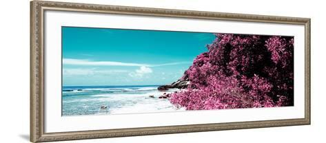 ¡Viva Mexico! Panoramic Collection - Isla Mujeres Coastline II-Philippe Hugonnard-Framed Art Print