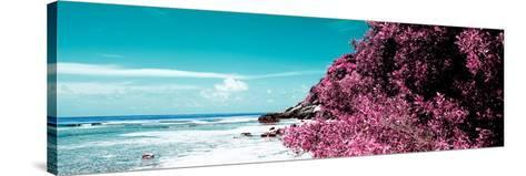 ¡Viva Mexico! Panoramic Collection - Isla Mujeres Coastline II-Philippe Hugonnard-Stretched Canvas Print