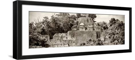 ?Viva Mexico! Panoramic Collection - Pyramid in Mayan City of Calakmul II-Philippe Hugonnard-Framed Art Print