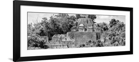 ?Viva Mexico! Panoramic Collection - Pyramid in Mayan City of Calakmul IV-Philippe Hugonnard-Framed Art Print