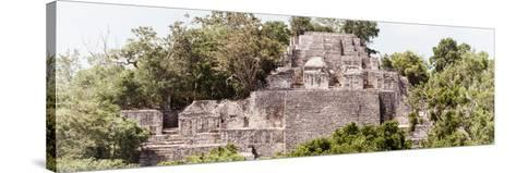 ?Viva Mexico! Panoramic Collection - Pyramid in Mayan City of Calakmul III-Philippe Hugonnard-Stretched Canvas Print