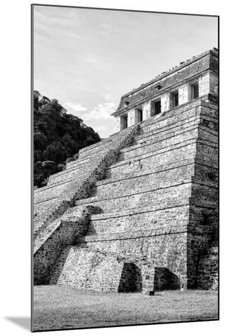 ¡Viva Mexico! B&W Collection - Mayan Temple of Inscriptions III - Palenque-Philippe Hugonnard-Mounted Photographic Print