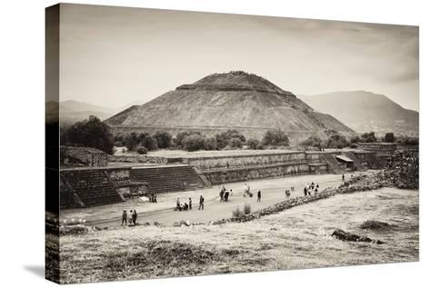 ?Viva Mexico! B&W Collection - Teotihuacan Pyramids II-Philippe Hugonnard-Stretched Canvas Print