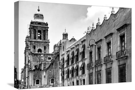 ?Viva Mexico! B&W Collection - Mexico City Facades II-Philippe Hugonnard-Stretched Canvas Print