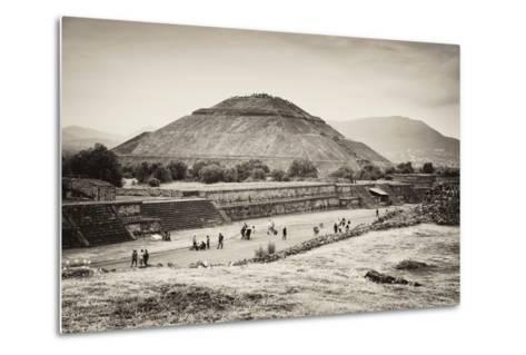 ?Viva Mexico! B&W Collection - Teotihuacan Pyramids II-Philippe Hugonnard-Metal Print