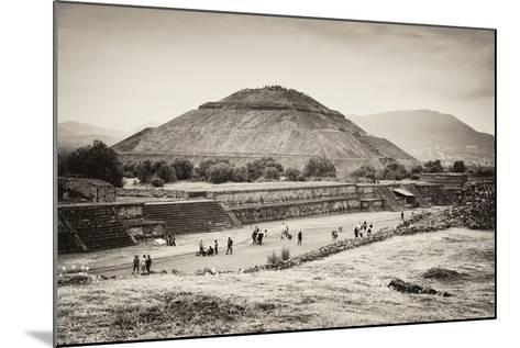 ?Viva Mexico! B&W Collection - Teotihuacan Pyramids II-Philippe Hugonnard-Mounted Photographic Print