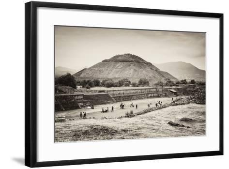 ?Viva Mexico! B&W Collection - Teotihuacan Pyramids II-Philippe Hugonnard-Framed Art Print