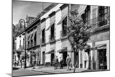 ¡Viva Mexico! B&W Collection - Mexico City Facades-Philippe Hugonnard-Mounted Photographic Print