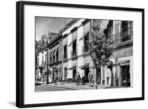 ¡Viva Mexico! B&W Collection - Mexico City Facades-Philippe Hugonnard-Framed Art Print
