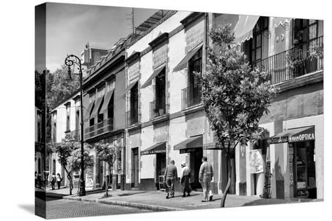 ¡Viva Mexico! B&W Collection - Mexico City Facades-Philippe Hugonnard-Stretched Canvas Print