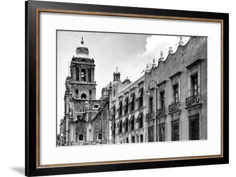 ?Viva Mexico! B&W Collection - Mexico City Facades II-Philippe Hugonnard-Framed Art Print