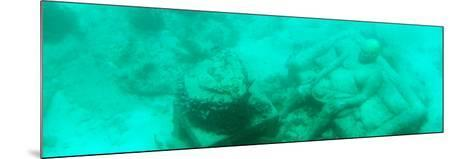 ¡Viva Mexico! Panoramic Collection - Sculptures at bottom of sea in Cancun III-Philippe Hugonnard-Mounted Photographic Print
