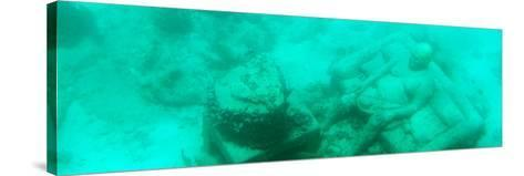 ¡Viva Mexico! Panoramic Collection - Sculptures at bottom of sea in Cancun III-Philippe Hugonnard-Stretched Canvas Print