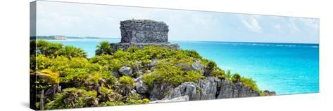 ¡Viva Mexico! Panoramic Collection - Caribbean Coastline - Tulum XII-Philippe Hugonnard-Stretched Canvas Print
