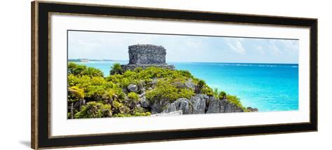 ¡Viva Mexico! Panoramic Collection - Caribbean Coastline - Tulum XII-Philippe Hugonnard-Framed Art Print