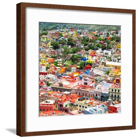 ¡Viva Mexico! Square Collection - Guanajuato Cityscape VII-Philippe Hugonnard-Framed Art Print
