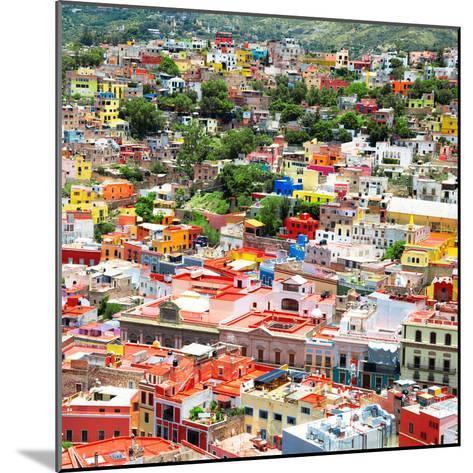¡Viva Mexico! Square Collection - Guanajuato Cityscape VII-Philippe Hugonnard-Mounted Photographic Print