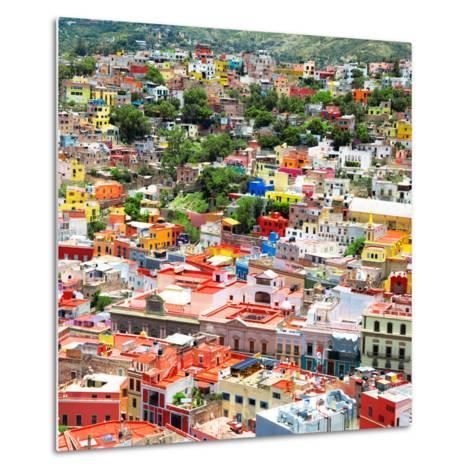 ¡Viva Mexico! Square Collection - Guanajuato Cityscape VII-Philippe Hugonnard-Metal Print