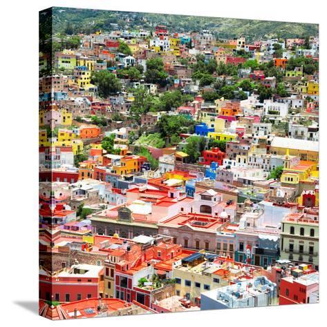 ¡Viva Mexico! Square Collection - Guanajuato Cityscape VII-Philippe Hugonnard-Stretched Canvas Print