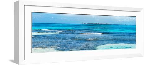 ¡Viva Mexico! Panoramic Collection - Caribbean Coastline overlooking Cancun-Philippe Hugonnard-Framed Art Print