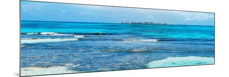 ¡Viva Mexico! Panoramic Collection - Caribbean Coastline overlooking Cancun-Philippe Hugonnard-Mounted Photographic Print