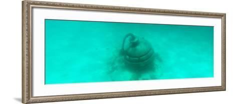 ¡Viva Mexico! Panoramic Collection - Sculptures at bottom of sea in Cancun II-Philippe Hugonnard-Framed Art Print