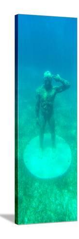 ¡Viva Mexico! Panoramic Collection - Sculptures at bottom of sea in Cancun-Philippe Hugonnard-Stretched Canvas Print