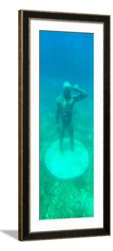 ¡Viva Mexico! Panoramic Collection - Sculptures at bottom of sea in Cancun-Philippe Hugonnard-Framed Art Print