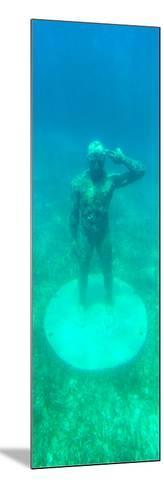 ¡Viva Mexico! Panoramic Collection - Sculptures at bottom of sea in Cancun-Philippe Hugonnard-Mounted Photographic Print