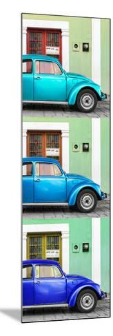 ¡Viva Mexico! Panoramic Collection - Three VW Beetle Cars with Colors Street Wall XXVIII-Philippe Hugonnard-Mounted Photographic Print