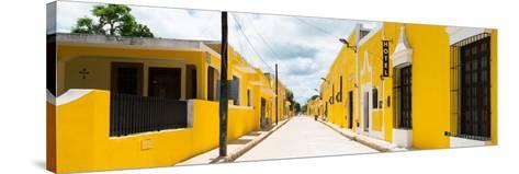 ¡Viva Mexico! Panoramic Collection - The Yellow City - Izamal II-Philippe Hugonnard-Stretched Canvas Print
