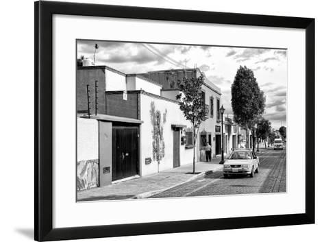 ¡Viva Mexico! B&W Collection - Mexican Street Oaxaca III-Philippe Hugonnard-Framed Art Print