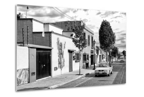 ¡Viva Mexico! B&W Collection - Mexican Street Oaxaca III-Philippe Hugonnard-Metal Print