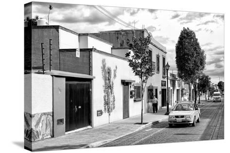 ¡Viva Mexico! B&W Collection - Mexican Street Oaxaca III-Philippe Hugonnard-Stretched Canvas Print