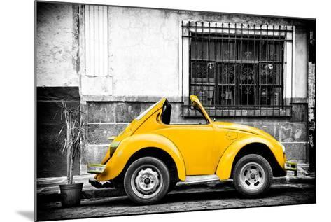 ¡Viva Mexico! B&W Collection - Small Gold VW Beetle Car-Philippe Hugonnard-Mounted Photographic Print