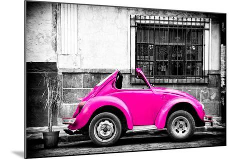 ?Viva Mexico! B&W Collection - Small Deep Pink VW Beetle Car-Philippe Hugonnard-Mounted Photographic Print