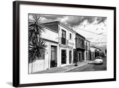 ?Viva Mexico! B&W Collection - White VW Beetle Car in Mexican Street II-Philippe Hugonnard-Framed Art Print